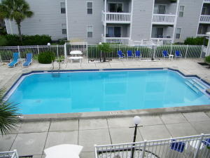 Hermitage pool and sun deck.