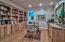 Featuring great built-in shelving and cabinetry.