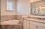 Second Floor Master Bath with Dual Vanities, Glass Shower and Soaking Tub