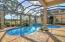 Pool overlooks the golf course.