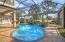 Screened pool and spa.