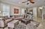 Interior features an open floor plan, beautiful thick crown molding and high ceilings.