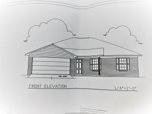 1693 sq. ft. heated living area, 3 bedrooms 2 baths, double car garage for a total of 2212 sq. ft including front porch.
