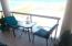 Balcony seating for 5, table and amazing Gulf of Mexico & Sound water views