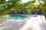 Gunite pool is heated