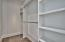 All closets are finished in cabinet grade solid wood