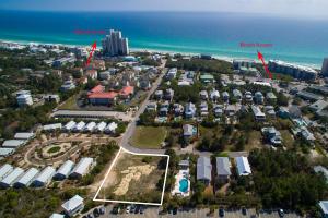 Aerial View with Beach accesses to Gulf of Mexico.