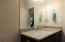 Hall way bath, granite top