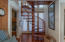 Custom wooden spiral staircase