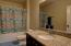 Granite counter in the hall way bath too