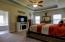 Trayed ceiling and plenty of room for sitting area in Master bedroom
