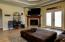 Great Room has double tray ceiling for a touch of elegance