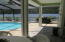 Another view of pool area outside of 1/2 bath
