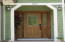 Beautiful Solid Wood Door with Etched, leaded glass to welcome you home