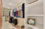 One of two master closets!