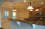 Enormous kitchen area.