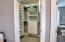 Oversized walk-in closet in the master