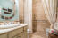 Guest bathroom on ground floor with handicap capable shower