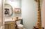 Half bathroom on ground floor.