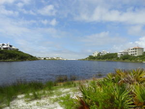 View of Draper Lake and Gulf from the Lot. It's time to build your dream home in this beautiful Draper Lake community, located on the south side of 30A between Blue Mountain Beach and Dune Allen! This property is located on the southernmost lot in Draper Lake with gorgeous Gulf views!