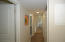 SPLIT FLOOR PLAN. THIS IS HALLWAY TO 3 BEDROOMS AND SHARED FULL BATH
