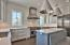 Thermador appliances, ship lap, custom cabinetry, marble countertops