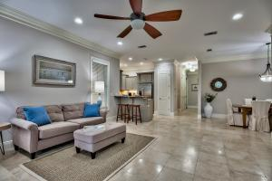 "Fantastic open floor plan is ideal and encompasses beautiful 20"" tile flooring throughout the main living spaces."