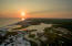 Sunset over the Gulf of Mexico and Western Lake