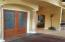 Etched doors make this a very special entrance