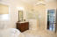 Master Bath with Luxurious Double Antique Vanities