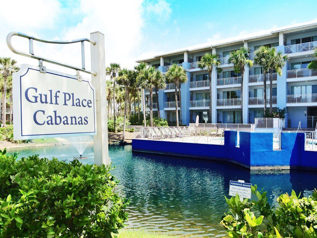 YOUR beach condo and a rental machine? Over $30K in 2018. Gulf Place is on the bustling west end of 30A. Located in the Gulf Place Cabanas, this 3rd floor corner condo has Gulf Views and overlooks the pool and lake. Lots of natural sunlight and an open den and kitchen concept that flows onto the covered balcony. 1 bedroom/1.5 Bath, Sleeps 6, includes two bunk beds. The bunk area is separated off the hallway for addt'l privacy. Gulf Place features a town center with retail, restaurants, 3 pools, & deeded beach access. The large green space amphitheater is the site for year round activities like concerts, car shows, and farmer's markets. Imagine the lifestyle of owning a personal beach getaway.  Offered fully furnished and rental ready.