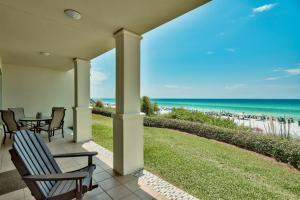 View from the patio of unit C102 Villas at Santa Rosa Beach