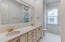 Large master bath with two sinks