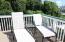 Patio furniture on upper deck