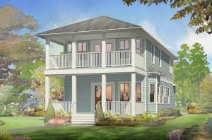 Sea Breeze B Elevation- double porches to enjoy the views