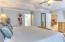Master split floor plan around the corner from the kitchen