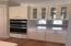 Convection microwave and wall oven, next to built ins