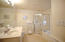 Master bath with separate tub and shower - dual basins