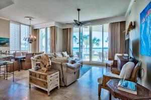 This stunning gulf front 5 bedroom 5 bath penthouse is a 2 story corner unit boasting fine details and amenities. It is being sold fully furnished is an ideal turn-key investment or full time residence.