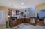 View of the Kitchen Island with Breakfast Bar