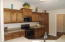 lots of cabinets & counter space.