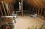 This is a huge attic area, with room to put one more bedroom and one more bathroom., high ceilings