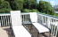 Patio furniture on upper deck