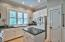 Classic bright white cabinets and Plantation Shutters