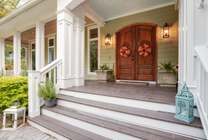 Front entry with expansive porch