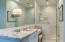 Master Bath with double vanity, large walk-in shower