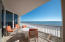 Spacious Balcony looking East towards Navarre Fishing Pier and over the glistening and beautiful Emerald Hued Waters of the Gulf of Mexico, with Sugary White Sand Beaches