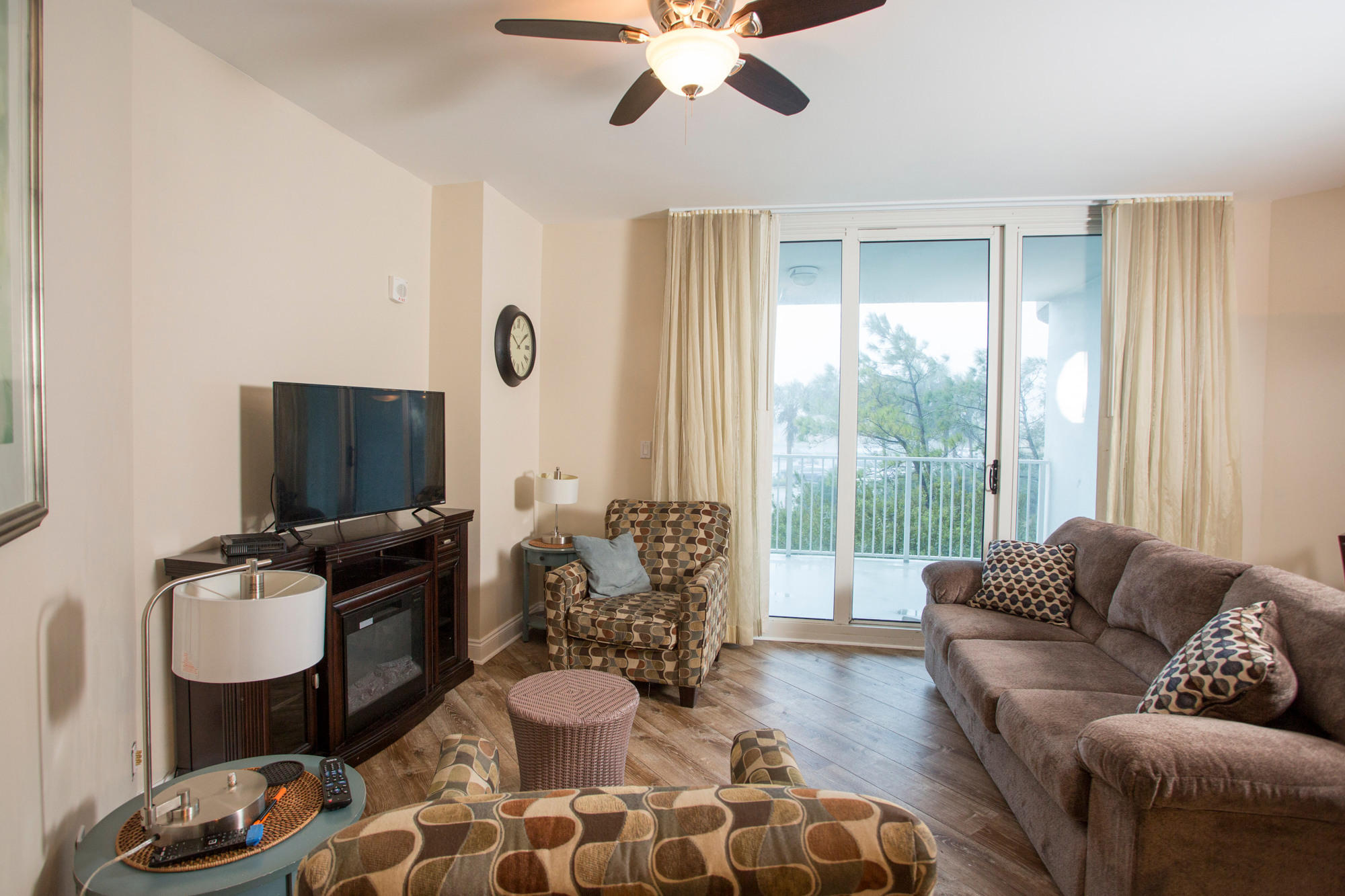 This is a must see unit, this plan features 2 full bedrooms, 2 full baths, 3 Balcony's, Tile in entry and kitchen, new dish water, flooring in living room and hall looks like hardwood floor, updated unit with loads of extras.. The HOA includes all utilities including electricity.. Large Lagoon pool, and more..