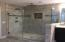 Full Tile, Frameless Glass Shower with Rain Head