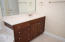 Great storage in the vanities along with additional counter space.